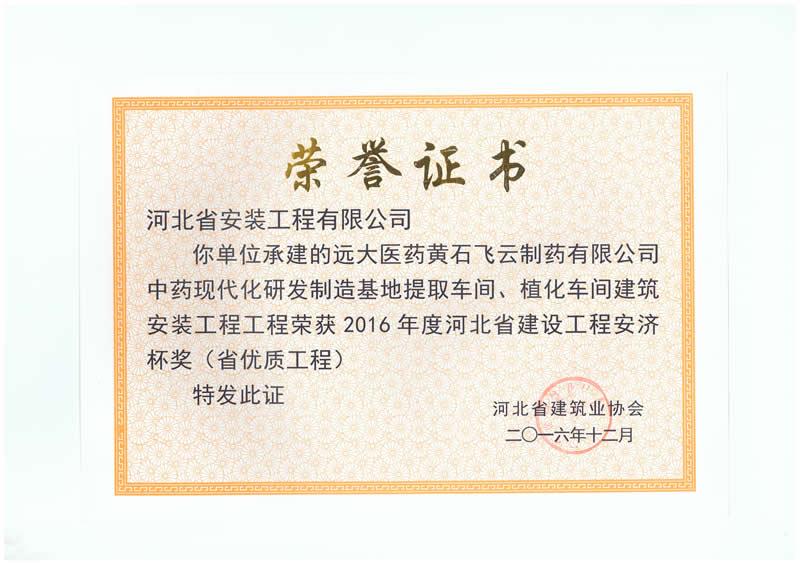 远大医药黄石项目——2016省优