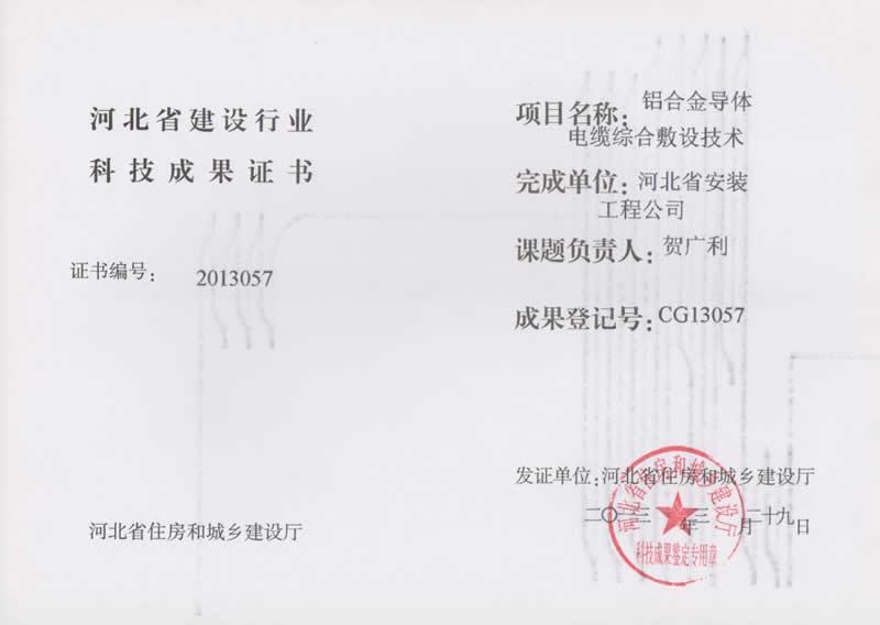CG13057铝合金导体电缆综合敷设技术